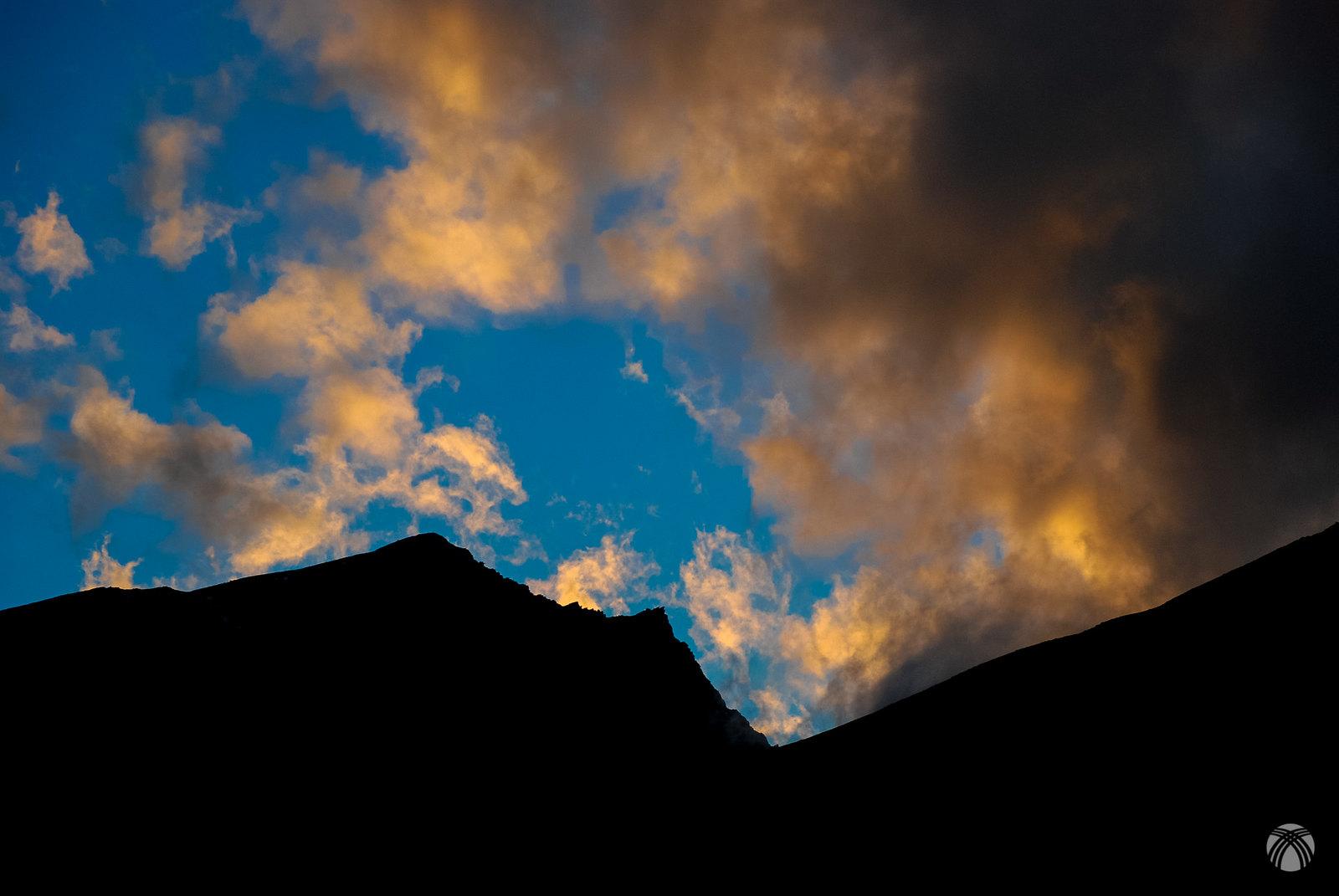 Últimas luces en el Puntal del Goterón y la Alcazaba