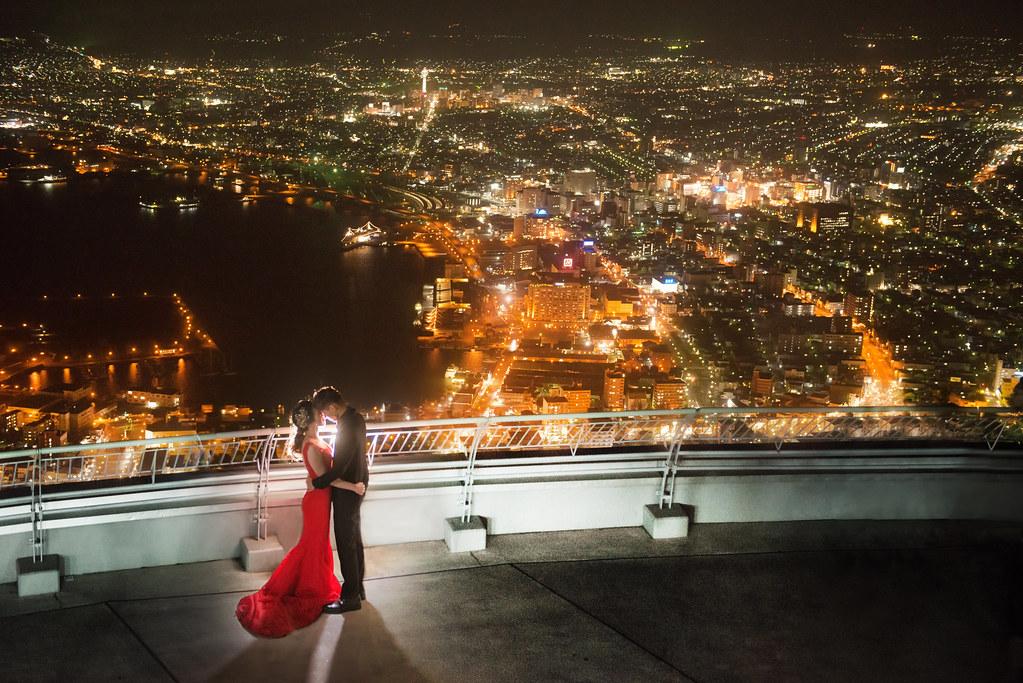 北海道函館婚紗,函館山夜景婚紗