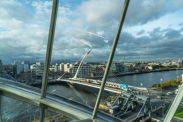 A VIEW OF DUBLIN FROM THE CONVENTION CENTRE DUBLIN [SAMUEL BECKETT BRIDGE]-121642