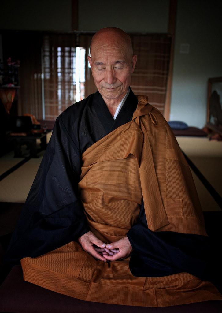 Zen Master Jinen Doing Zazen Meditation