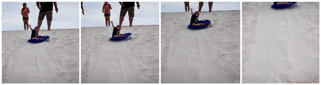 ellie sledding