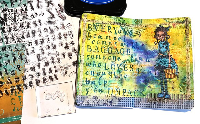 Mini art journal: excess baggage