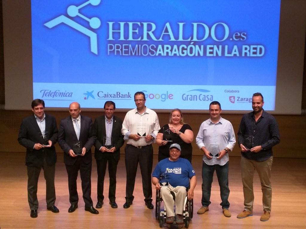 Foto de los ganadores de los Premios Aragón en la Red