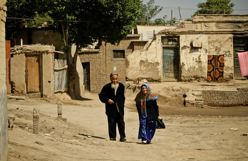 Couple in the Old Streets of Yarkant