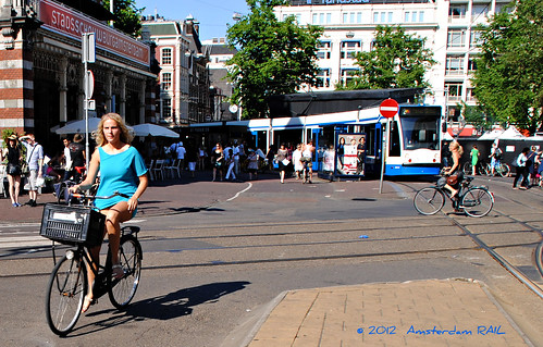 Urban commuting in the heart of Amsterdam | by Amsterdam RAIL