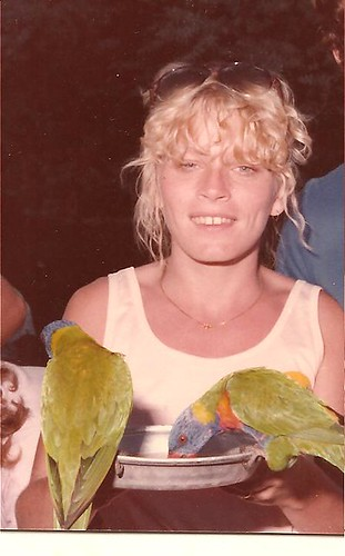 Mary-Ellen at the Currumbin bird Sanctuary 1984