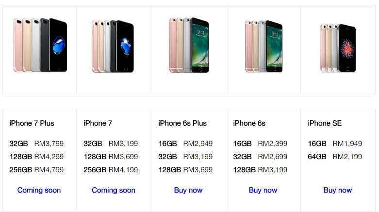 iphone7 prices
