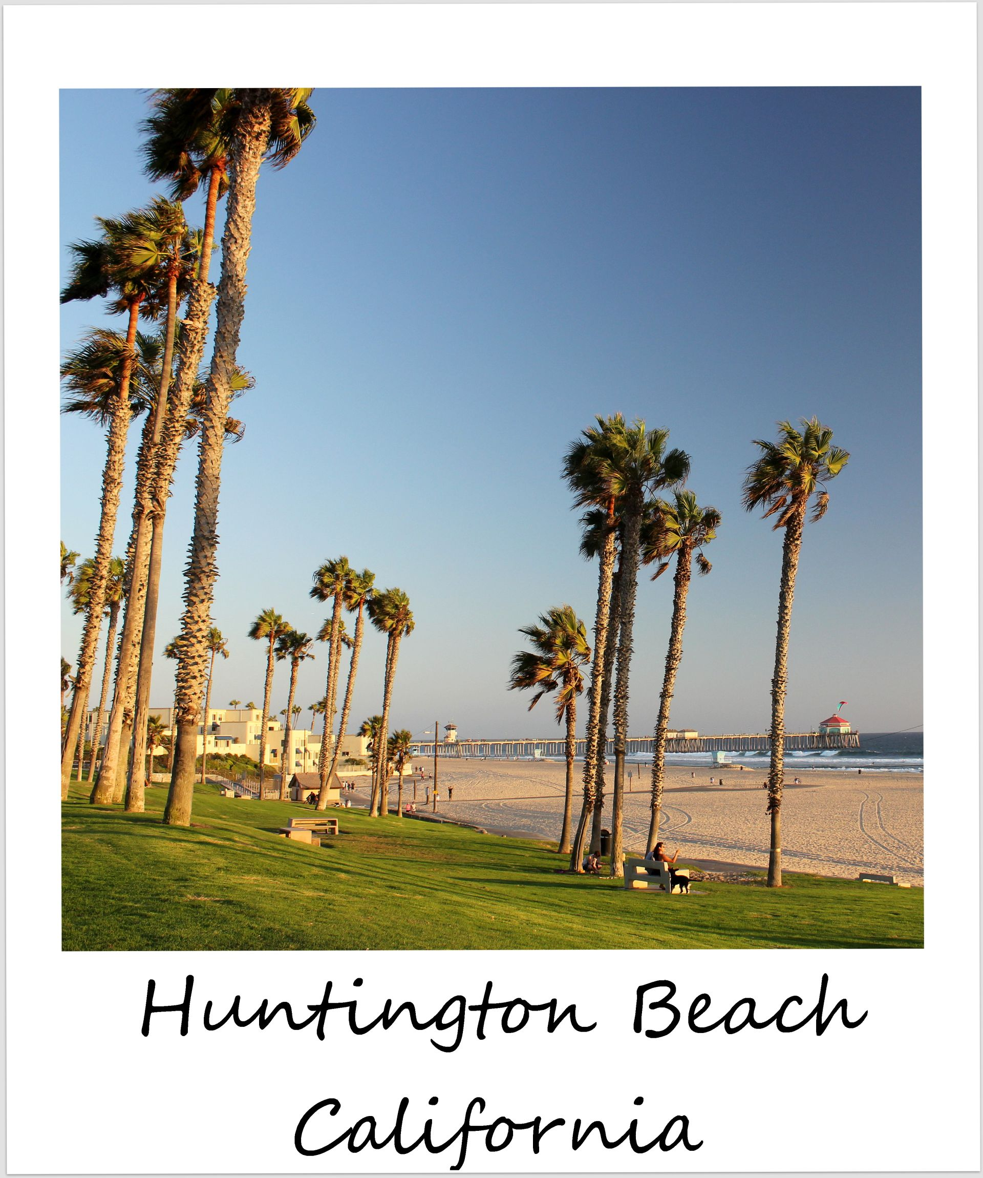 polaroid of the week usa california huntington beach