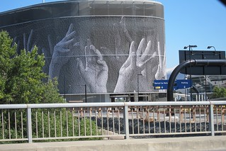 San Jose Airport Parking hands art July 2012