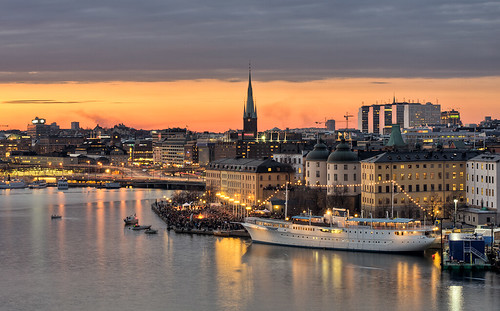 Valborg celebrations on Riddarholmen | by Storkholm Photography