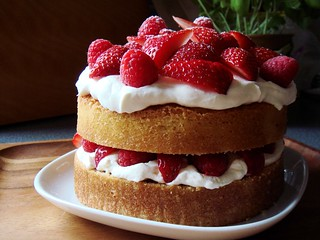 Strawberry Raspberry Shortcake | by ComeUndone
