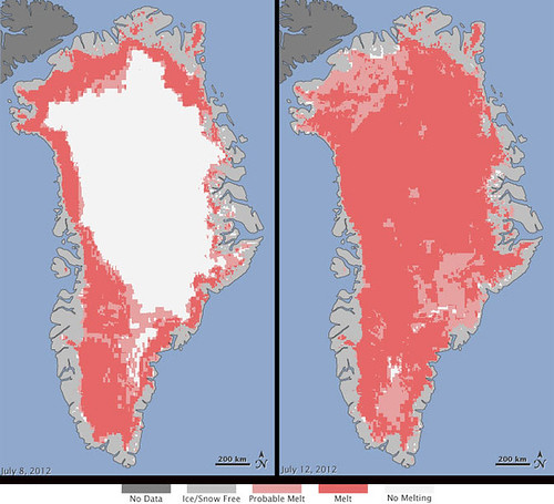 Satellites See Unprecedented Greenland Ice Sheet Surface Melt | by NASA Goddard Photo and Video