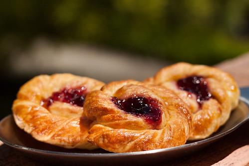 Swirled Danish With Jam