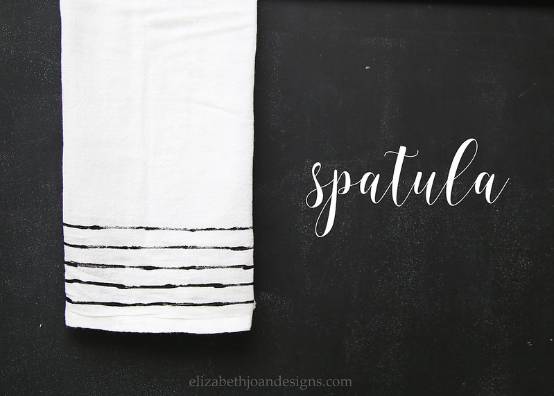 Spatula Stamped Towel