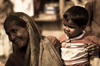 Mother and Son walking in the street of old Mumbai | by Daniele Romeo