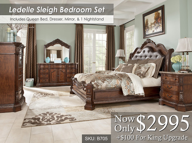 Ledelle Sleigh Bedroom Set B705a