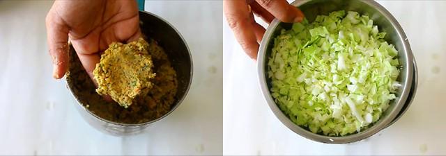 cabbage vadai 2