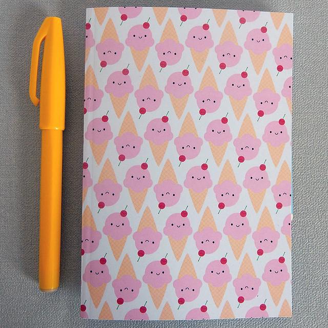 Ice Cream Cones Pocket Notebook