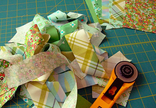 Cutting into my Bloomerie challenge fabrics | by greenleaf goods