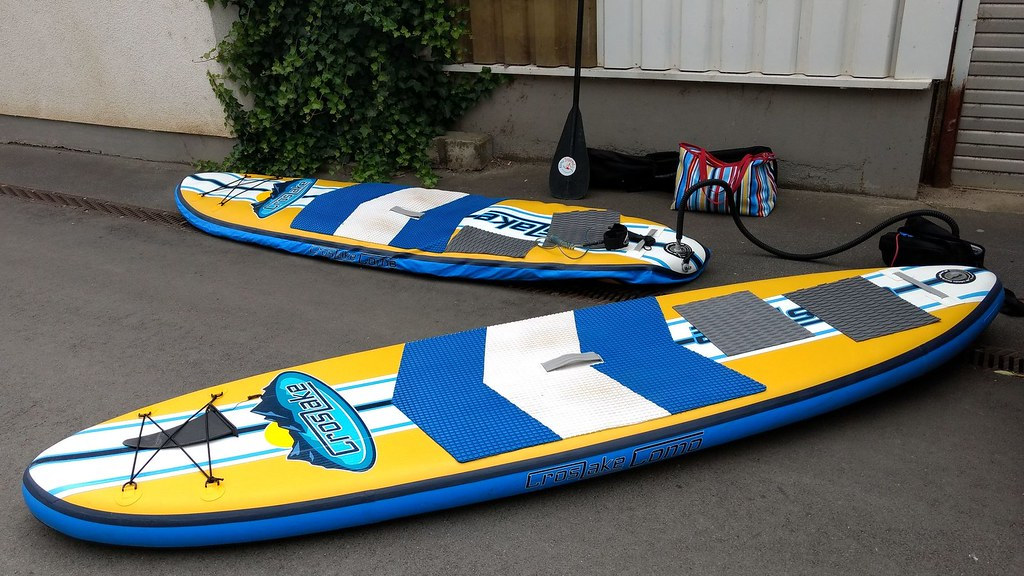 SUP Boards, voll und fast leer