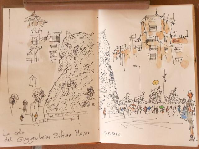 La cola del Gughenheim, Bilbao