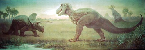 Tyrannosaurus Triceratops Charles Knight | by RL_Miller