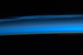 Polar Mesospheric Clouds Over Tibetan Plateau (NASA, International Space Station, 06/13/12) | by NASA's Marshall Space Flight Center
