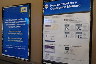 Myki-only now, but still Metcard signage displayed | by Daniel Bowen