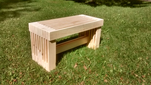 Slat Bench (not yet painted)