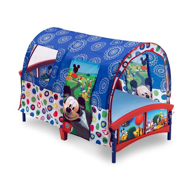 Delta Mickey Mouse Tent Bed Cama Niño De Plástico Con Carpa 1