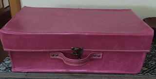 Pink leather doll case!