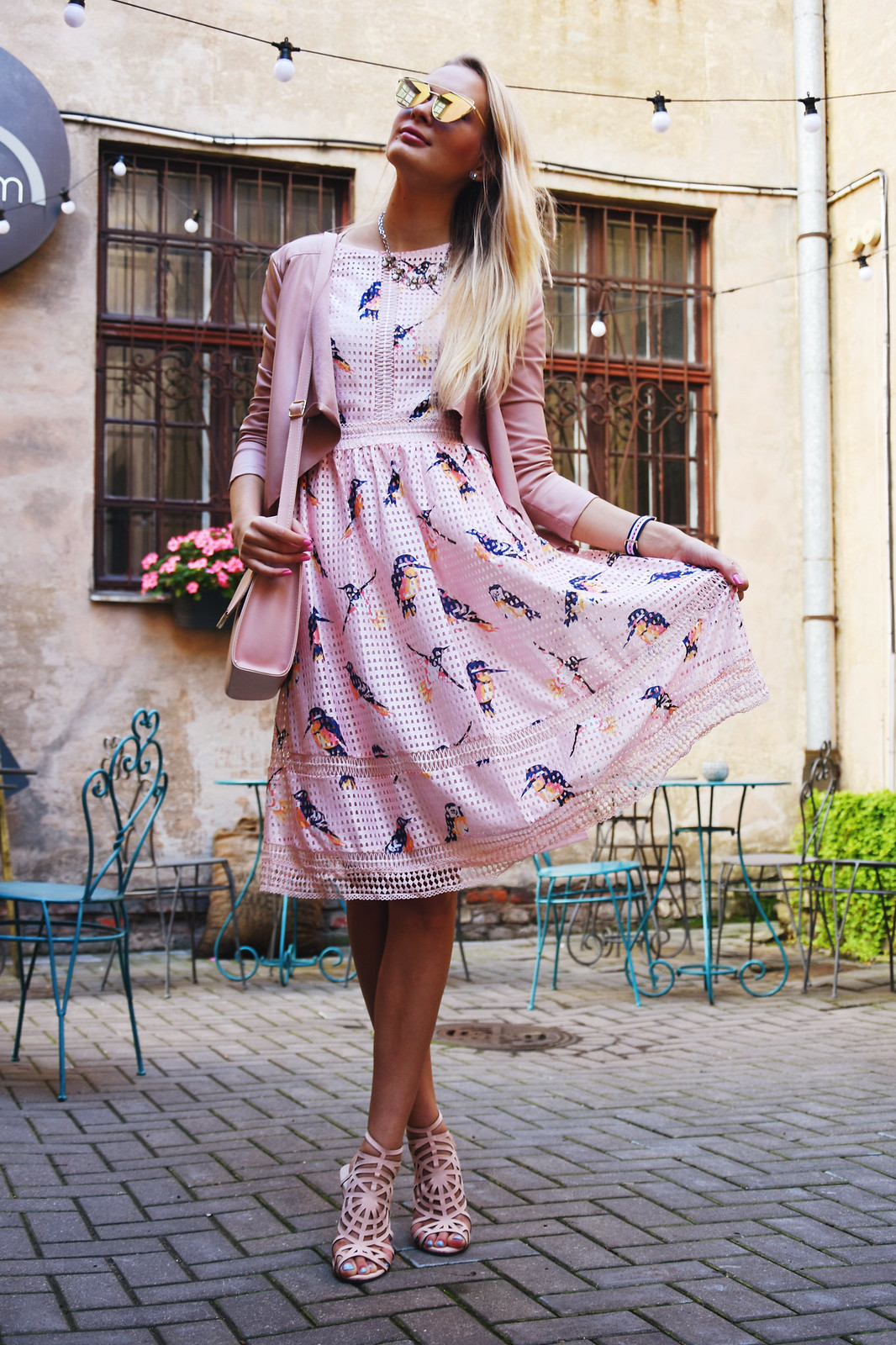Bird print dress Dresslily