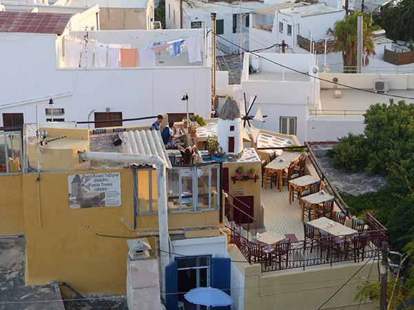 toits et moulin naxos