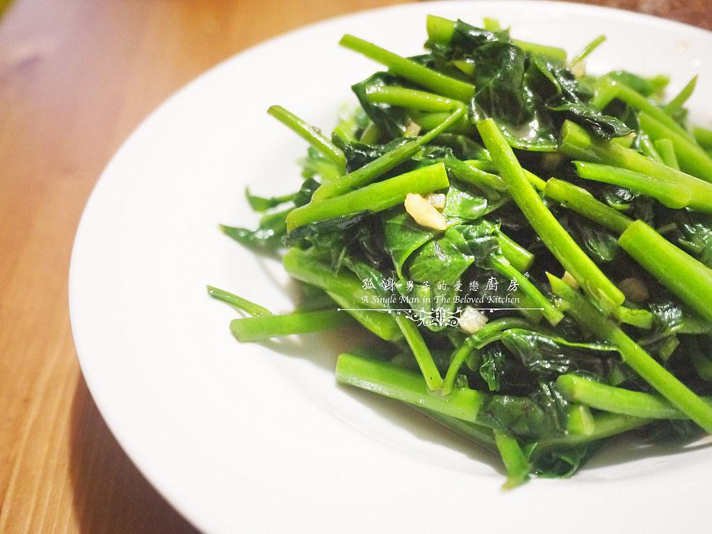 孤身廚房-烤鮭魚排佐香料烤南瓜及蒜香皇宮菜16