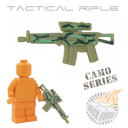 Tactical Rifle - Olive Green w/ Camo | by BrickForge