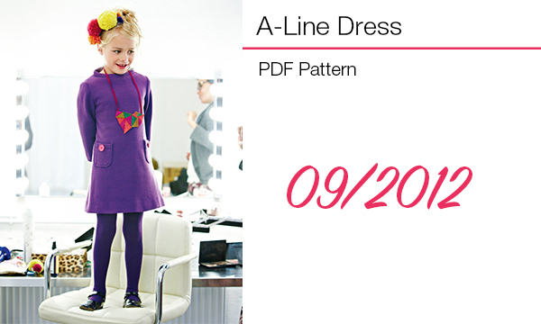 A line girls dress