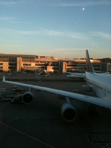 Early morning view of the apron from the First Class Lounge Pier B, Frankfurt Airport | by NewbieRunner