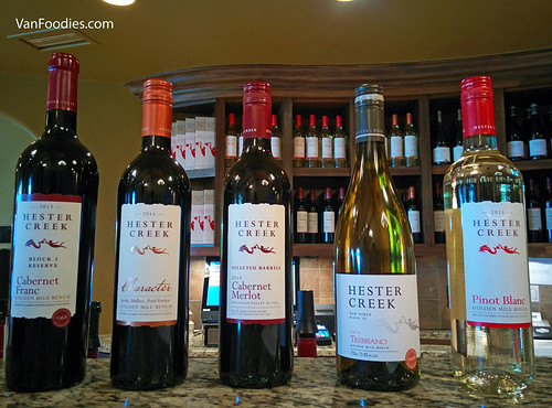 Wines at Hester Creek Estate Winery