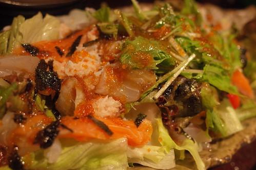かにぶっかけ海鮮サラダ