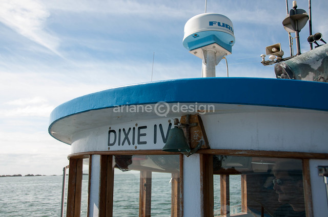 Aboard the 1950 Dixie IV cruiser