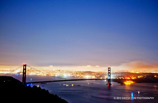 SF View through Golden Gate Bridge | by DIKESH.com