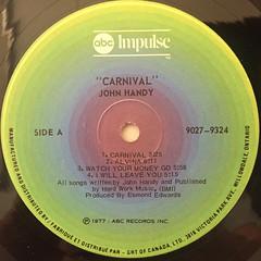 JOHN HANDY:CARNIVAL(LABEL SIDE-A)