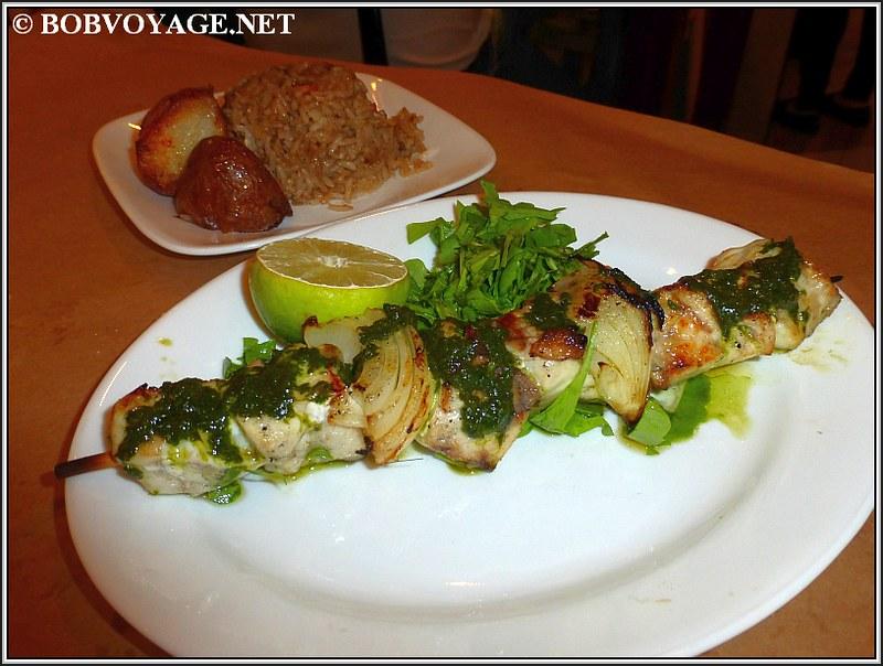 שיפוד מוסר ים ב- מסעדת השקד