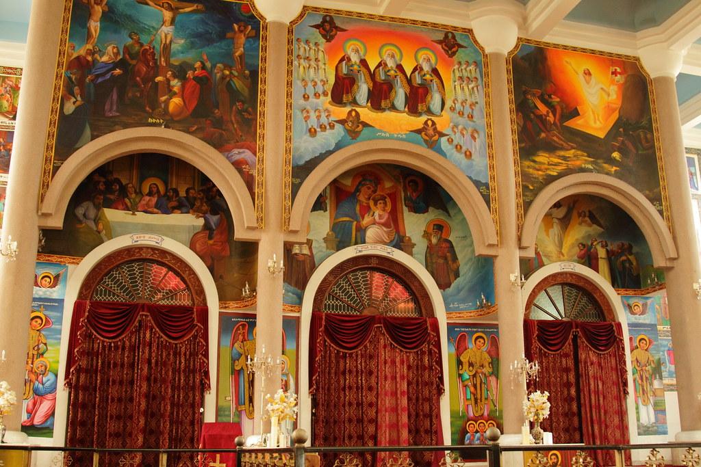 Medhane Alem Church interior decoration