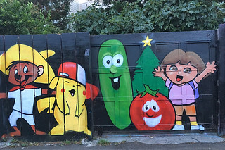 Osage Alley Murals - Dora mural