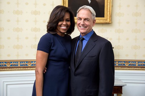 Michelle Obama and Mark Harmon