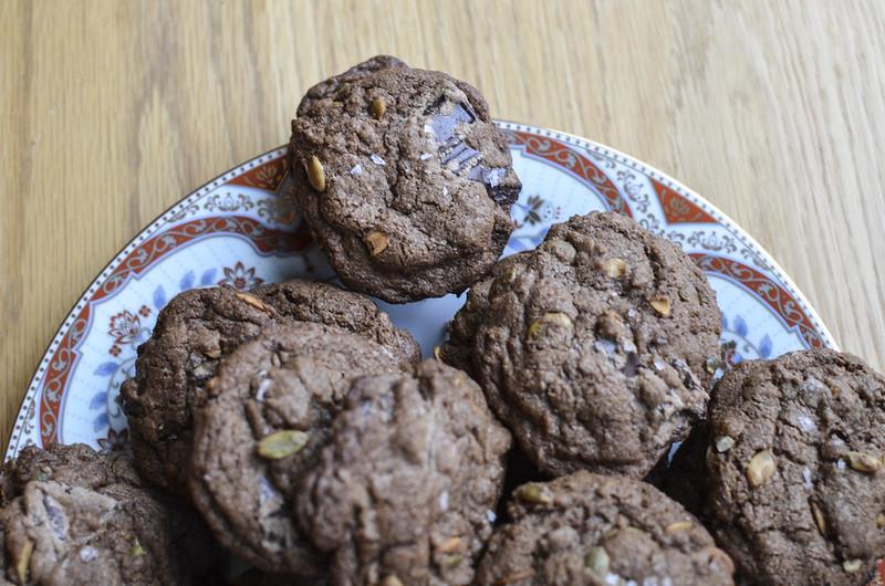 Chocolate Pumpkin Seed Cookies