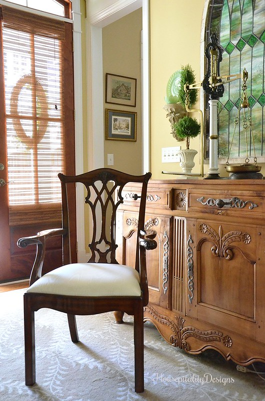 Side Chair/Antique French Buffet - Housepitality Designs