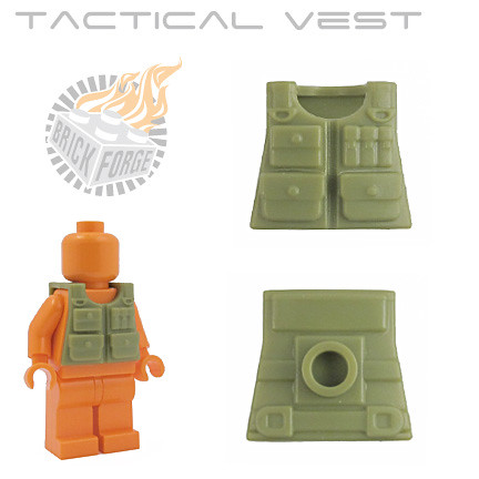 Tactical Vest - Olive Green | by BrickForge