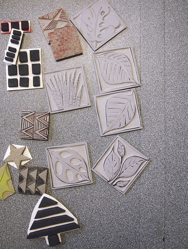 Kerry Day printing blocks stamps workshop